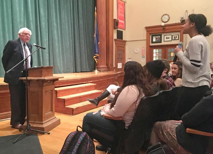 Sanders Talks With Morrisville High Schoolers About Post-Graduation Plans