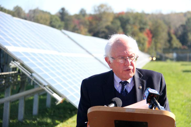 Sanders Promotes Domestic Solar Industry, But Warns Against Trade Restrictions